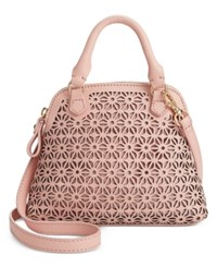 Giani Bernini Mini Dome Leather Satchel Only At Macy's Pink