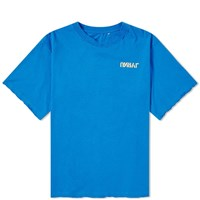 Unravel Project Skull Back Print Tee Blue