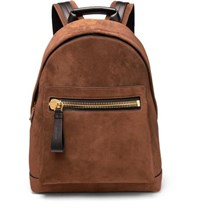 Tom Ford Suede And Leather Backpack Brown