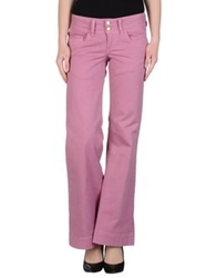 Uniform Denim Pants Pastel Pink