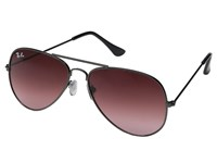 Ray Ban Rb3025 Original Aviator 58Mm Black Frame Mirror Gradient Red Lens Metal Frame Fashion Sunglasses Brown