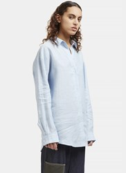 Acne Studios Bela Linen Chambray Shirt Blue