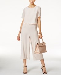 Alfani Cropped Popover Jumpsuit Only At Macy's Gray Morn