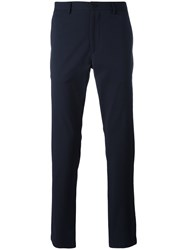 Theory Straight Leg Trousers Blue