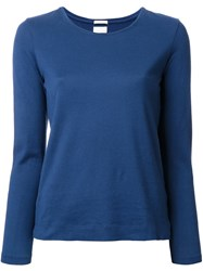 Massimo Alba Scoop Neck Top Blue