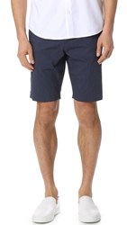 Theory Jake Striped Shorts Deep Blue