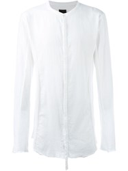 Thom Krom Band Collar Shirt White