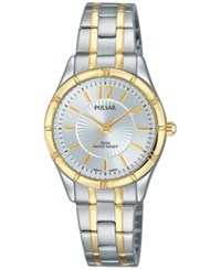 Pulsar Women's Easy Style Two Tone Stainless Steel Bracelet Watch 28Mm Ph8256 Two Tone