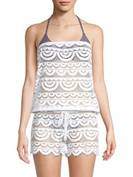 Pilyq Marisa Lace Cover Up Romper White