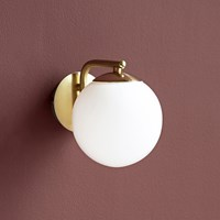 Amara Grant Wall Light Opal White Brass