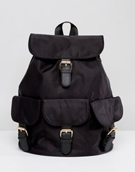 7X Casual Backpack With Multi Buckles Black