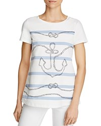 Max Mara Weekend Eufrate Graphic Tee Optical White