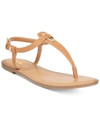 Bar Iii Velvet Thong Sandals Only At Macy's Women's Shoes Light Cognac