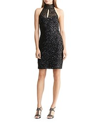 Ralph Lauren Sequin Mock Neck Dress Black