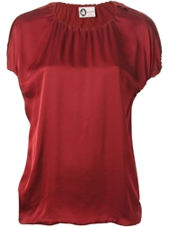 Lanvin Ruched Top Red