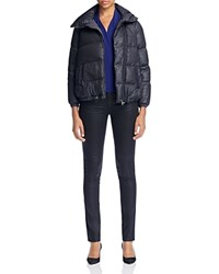 Armani Collezioni Quilted Down Jacket Gray