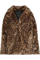 W118 By Walter Baker Rosa Leopard Print Faux Fur Jacket Animal Print