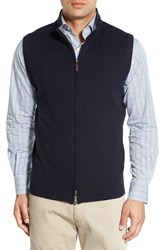 Peter Millar Men's Merino Wool Blend Vest Navy