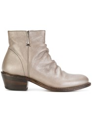 Fiorentini Baker Fitted Boots Leather Rubber Grey