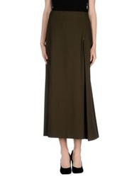 Oblique Long Skirts Military Green