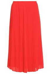 Warehouse Pleated Skirt Red