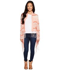 Rock And Roll Cowgirl Long Sleeve Cardigan 46 3774 Coral Women's Sweater