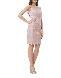 Js Collections Slim Fit Illusion Neckline Dress Mauve