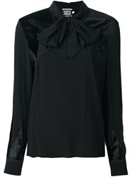 Fausto Puglisi Bow Neck Blouse Black