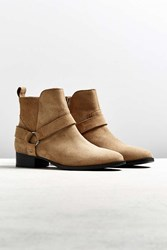 Urban Outfitters Uo Suede Harness Chelsea Boot Tan