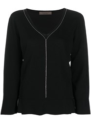 D.Exterior Side Slit Chain Embellished Knitted Top 60