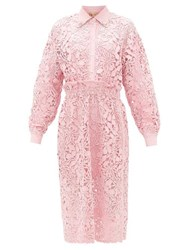 N 21 No. Embellished Collar Guipure Lace Shirt Dress Pink