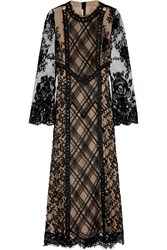 Alessandra Rich Lace Gown Black