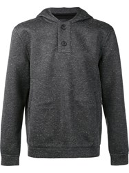 Atm Anthony Thomas Melillo Buttoned Fastening Hoodie Grey