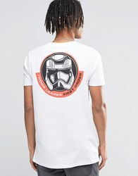Asos Longline Star Wars T Shirt With Chest And Back Print White