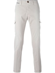 Eleventy Chino Cargo Trousers Nude And Neutrals