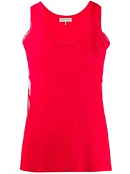 Emilio Pucci Panel Silk Tank Top Red
