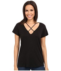Lna Cross Tee Black Women's T Shirt