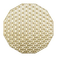 Chilewich Pressed Vinyl Kaleidoscope Round Placemat Brass