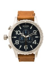 Nixon 51 30 Chrono Leather Brown