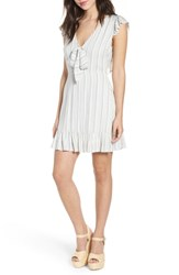 Lost Wander Kiara Stripe Minidress Light Blue