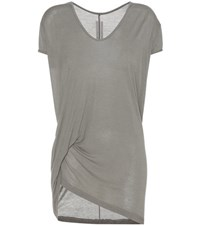 Rick Owens T Shirt With Draped Detailing Grey