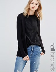 New Look Tall Lightweight Boyfriend Cardigan Black