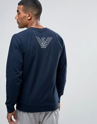 Emporio Armani Sweat With Back Logo Navy