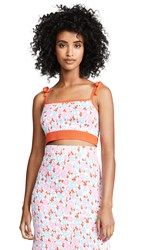 Joostricot Cropped Cami Pink Floral