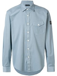 Belstaff Steadway Button Front Shirt Blue