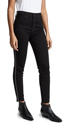 Hudson Holly Hr Ankle Skinny Jeans With Piping Black Luxe