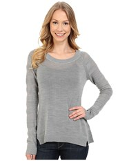Smartwool Palisade Trail Striped Crew Silver Gray Heather Women's Sweater
