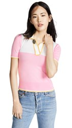 N 21 No. Polo Shirt Pink