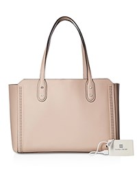 Ivanka Trump Soho Solutions Leather Tote Blush Silver