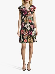 Betty And Co. Floral Dress Black Purple